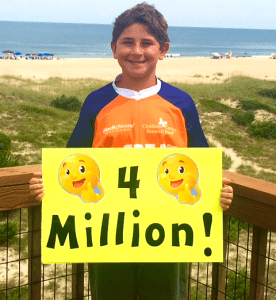 Tanner helped fundraise for Children's Cancer Research Fund's Great Cycle Challenge USA